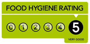 Charlie Harpers Cafe Brasserie has a Food Hygiene Rating of 5